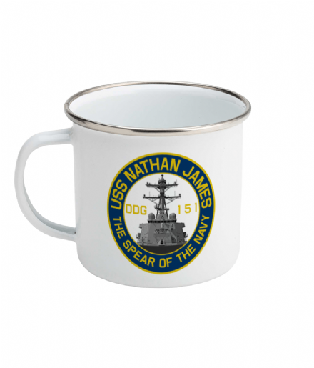 USS Nathan James DDG-151 Enamel Mug Inspired by The Last Ship